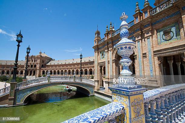 the plaza de espana, seville - seville stock pictures, royalty-free photos & images