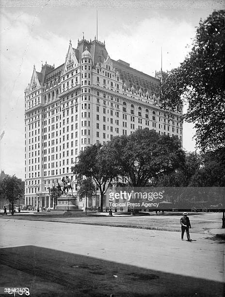 The Plaza Hotel New York City built in 1907 to the designs of architect Henry J Hardenbergh
