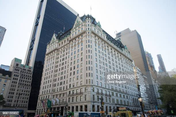 The Plaza Hotel stands in Midtown Manhattan May 8 2018 in New York City Saudi Prince AlWaleed Bin Talal and global real estate company Ashkenazy...