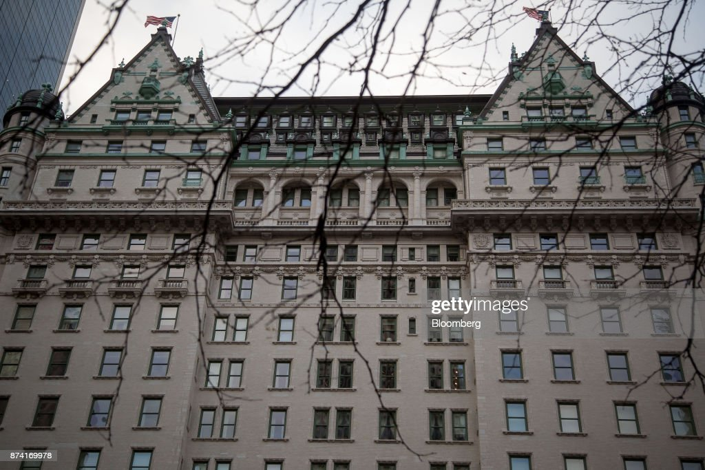 The Plaza Hotel stands in New York, U.S., on Monday, Nov. 13, 2017. Billionaire SaudiPrince Alwaleed bin Talalhas long been associated with New York's iconic Plaza Hotel, ever since he bought out Donald Trumpover two decades ago. Photographer: Michael Nagle/Bloomberg via Getty Images