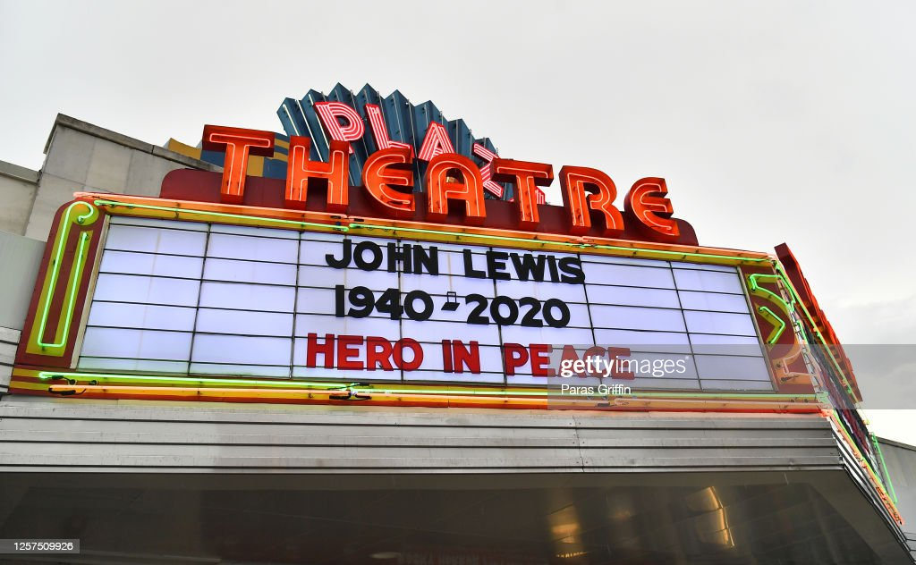 From Marquees To Murals, Rep. John Lewis Honored Across Atlanta : News Photo