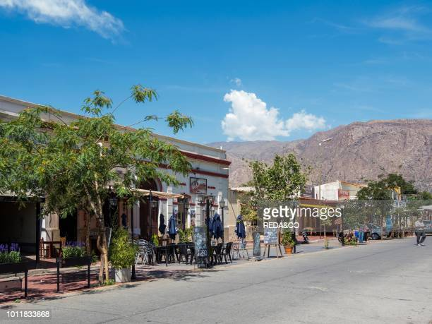 The Plaza Town Cafayate Cafayate is the center for tourism and winegrowing in the region Valles Calchaquies South America Argentina November.