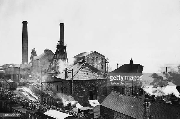 The Pleasley Colliery in Derbyshire back in operation after a general strike | Location Pleasley Derbyshire England UK