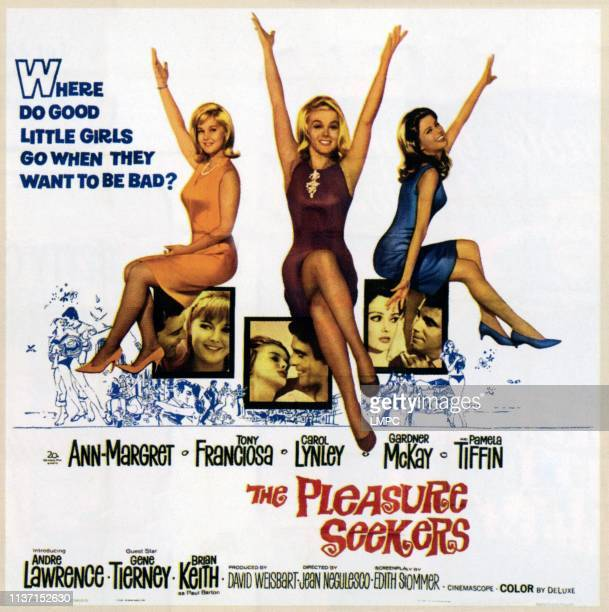 The Pleasure Seekers poster top from left Carol Lynley AnnMargret Pamela Tiffin bottom from left Tony Franciosa Carol Lynley AnnMargret Tony...