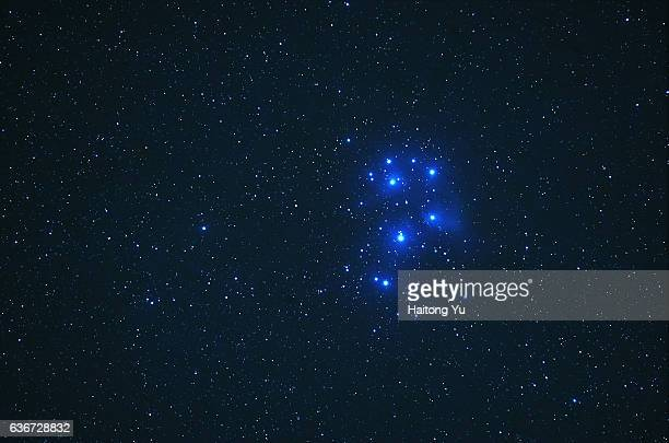 The Pleiades (M45), a bright open star cluster in the constellation Taurus