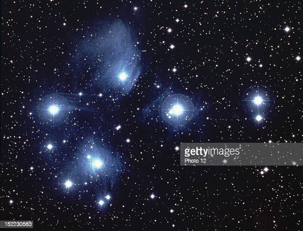 The Pleiades famous star cluster in the boreal Taurus constellation