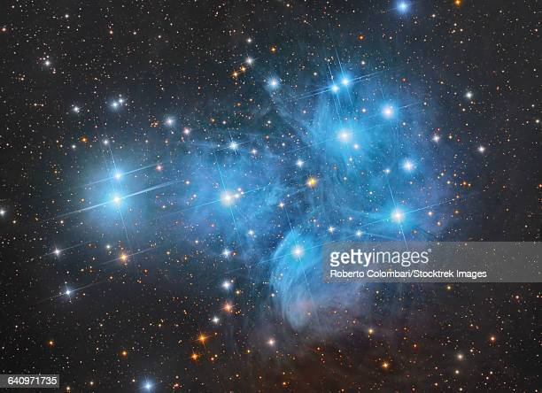 The Pleiades open star cluster in the constellation of Taurus.