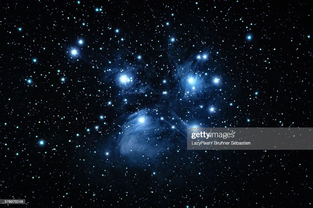 M 45, the pleiades : Stock Photo