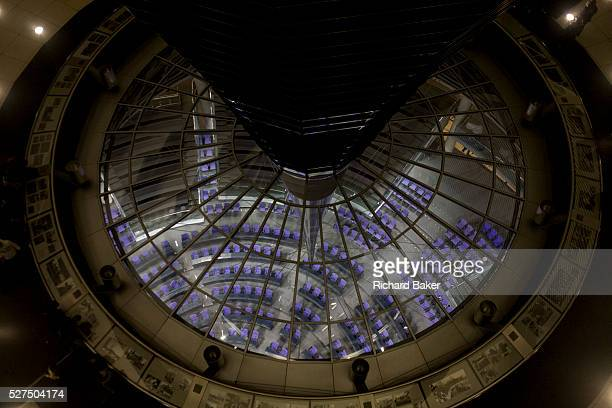 The Plenary Chamber in the centre of the old Reichstag building in central Berlin, Germany. The Bundestag is a legislative body in Germany. The...