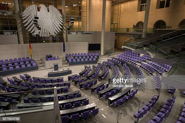 The Plenary Chamber in the centre of the old Reichstag building in central Berlin Germany The Bundestag is a legislative body in Germany The new...