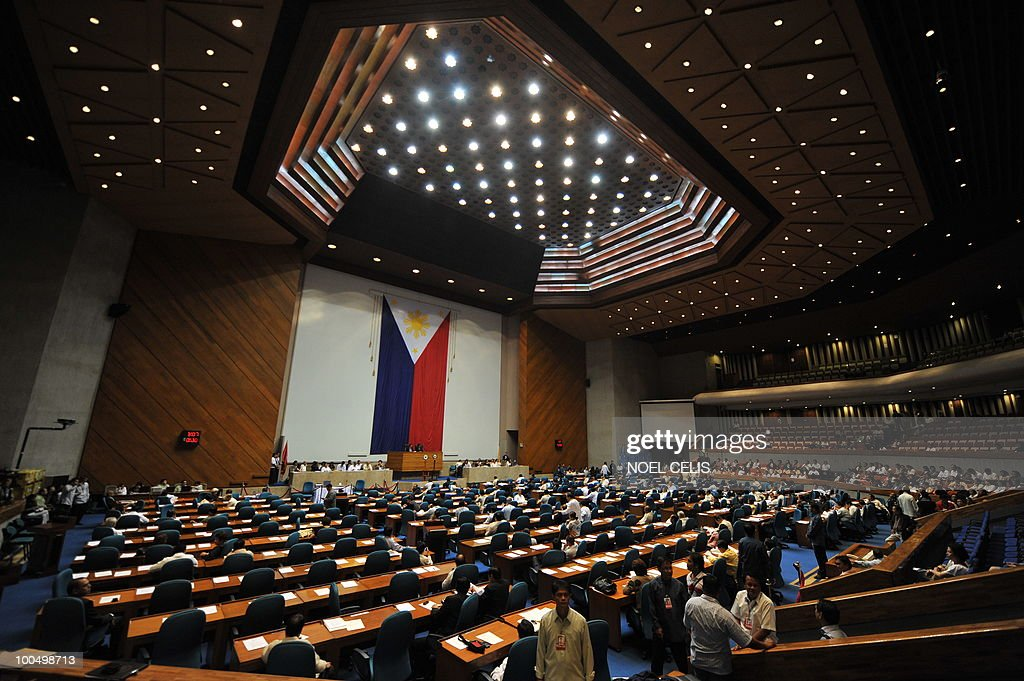 The plenary hall of the Congress in Quezon City, east of Manila on May 25, 2010, where the canvassing of votes for president and vice president will take place. President-elect Benigno Aquino, son of recently deceased democracy heroine Corazon Aquino won the May 10 national elections by a landslide after campaigning on pledges to wipe out corruption in the impoverished nation.