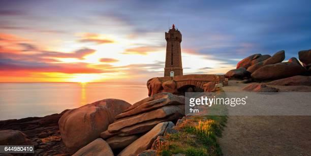 The Ploumanac'h lighthouse (officially the Mean Ruz lighthouse), Brittany/ France
