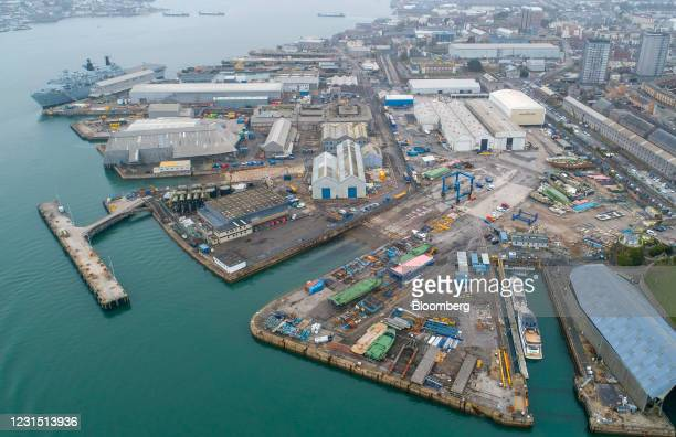 The Plymouth port area that includes South Yard, the site of the Devonport freeport in Plymouth, U.K., on Thursday, March 4, 2021. U.K. Chancellor...