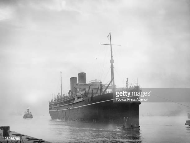 The PO liner 'SS Rawalpindi' at Tilbury docks in Essex 28th April 1933