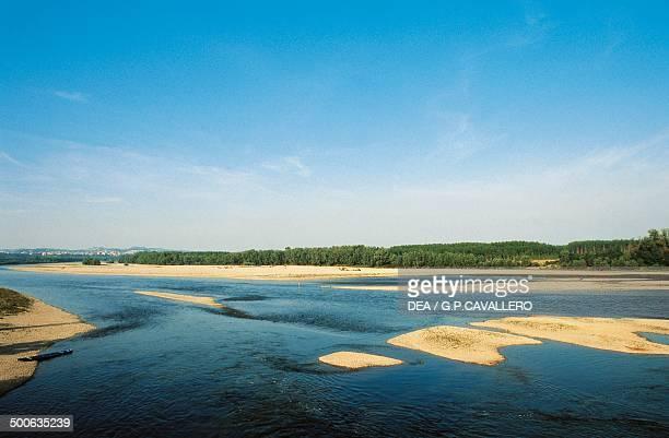 The Po River near Valenza Piedmont Italy