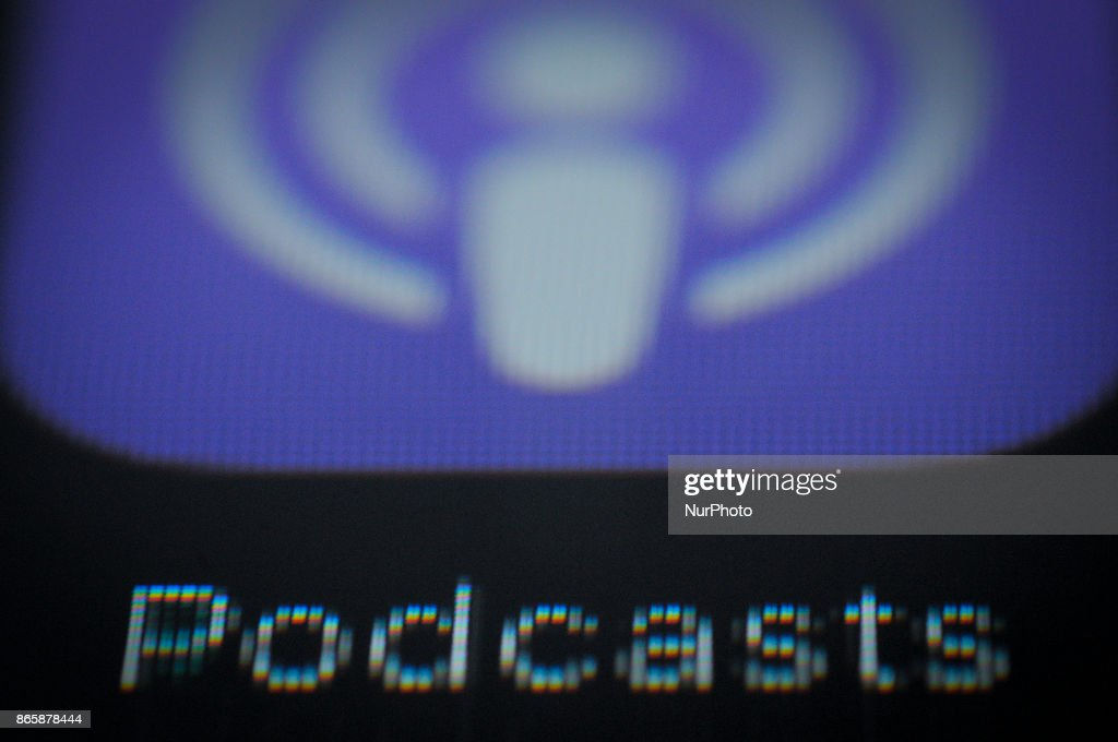 The Podcast application is seen on an Apple iPad on October
