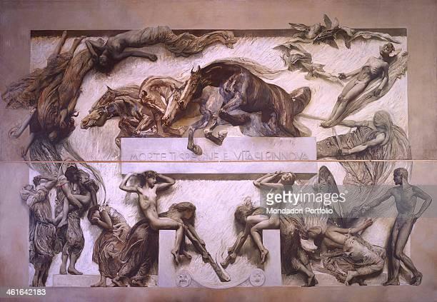 The Poem of Human Life Darkness by Giulio Aristide Sartorio 1906 1907 20th Century oil on canvas 509 x 646 cm Italy Veneto Venice Ca' Pesaro...