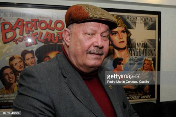 The poet Alejandro Gonzalez Acosta poses during the screening of Jorge Dalton's film 'Eliseo Lichi Diego' at Cosmopolitan Film on December 6 2018 in...