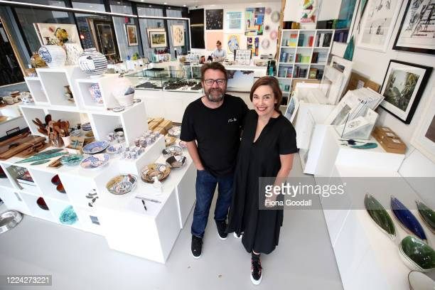The Poi Room Ponsonby owners MelanieJane Smith and husband Clayton Smith prepare their store for re opening at level two on May 12 2020 in Auckland...