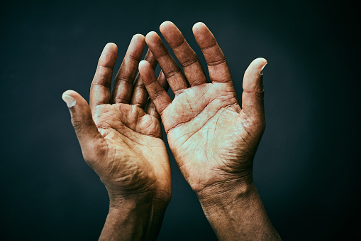 The point of view of looking own hands. - gettyimageskorea