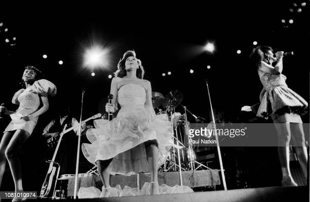 The Pointer Sisters perform on stage at the Rosemont Horizon in Rosemont Illinois October 1 1983