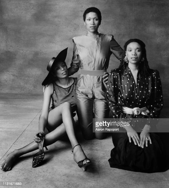 The Pointer Sisters Ruth Pointer June Pointer and Anita Pointer pose for a portrait in Los Angeles California