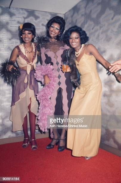 The Pointer Sisters taken at reception party November 1974 Tokyo Japan Bonnie Pointer Anita Pointer Ruth Pointer