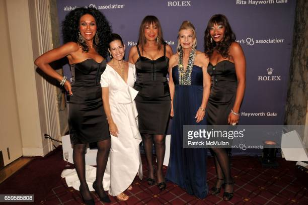The Pointer Sisters with Alexandra Lebenthal and Princess Yasmin Aga Khan attend the 2009 Alzheimer's Association Rita Hayworth Gala So Near Yet So...