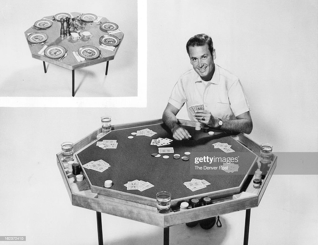 JAN 11 1960, JAN 17 1960; The Poker Table Shown Here With NBC