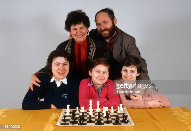 The Polgar family are photographed July 8, 1992 in New York City.