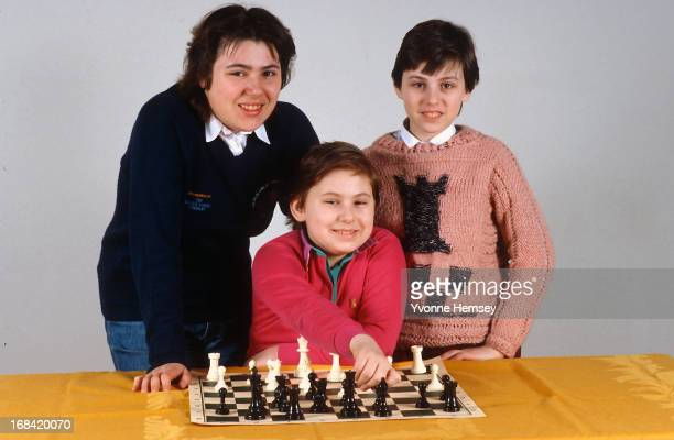 The Polgar sisters are photographed April 8, 1986 in New York City.