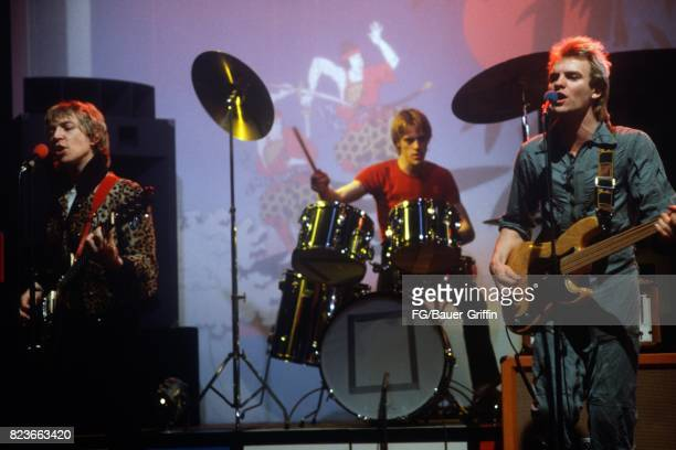 The Police at a TV studio in Munich on June 12 1979 in Munich Federal Republic of Germany 170612F1