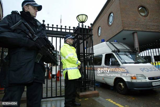 The police convoy carrying David Bieber arrives at Newcastle Crown Court The 35yearold will go on trial accused of murdering the traffic policeman...