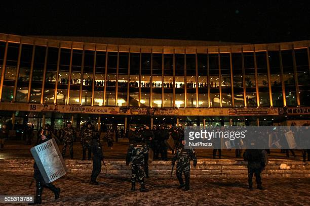 The police goes on the offensive as unknown people tried to disrupt Ani Lorak concert in Kiev twice in last two days on November 27 2014
