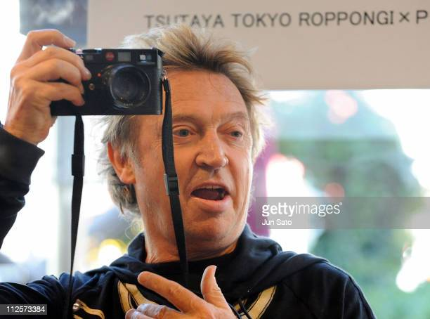 The Police Guitarist Andy Summers promotes his autobiography Andy Summers One Train Later at a bookstore in Tokyo on February 13 2008 in Tokyo Japan