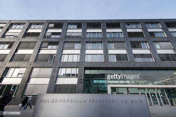 The police headquarters at Adickesalle pictured on December 18 2018 in Frankfurt Germany Police have expanded an internal investigation into a...
