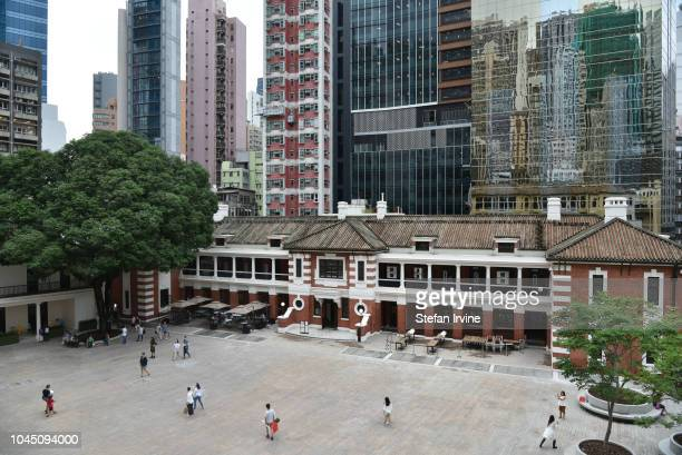 The Police Headquarters Block faces the main Parade Ground at the Tai Kwun Centre for Heritage and Arts, which includes several colonial-style...