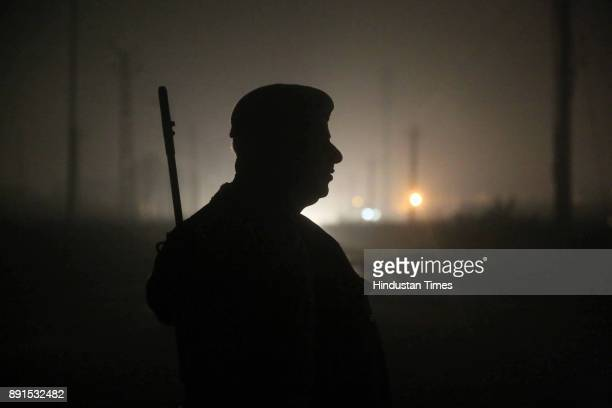 The Police official on duty at the anticow smuggling outposts at Amalaki Bhiwadi on intervening night of December 11 and December 12 2017 in Alwar...
