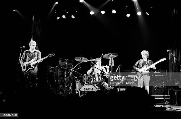 The Police perform live on stage at the Bottom Line in New York City on April 03 1979 LR Sting Stewart Copeland Andy Summers