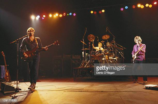 The Police performing on stage 1979 Left to right Sting Stewart Copeland and Andy Summers