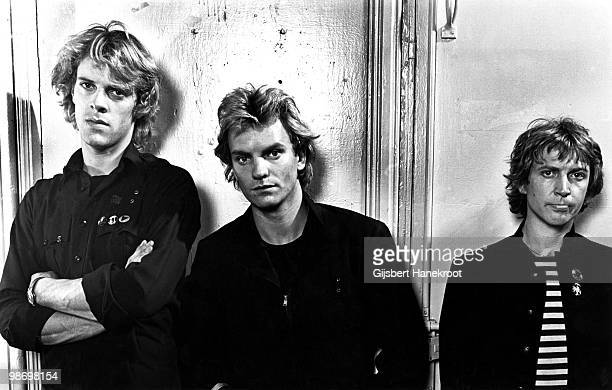 The Police posed in Amsterdam Netherlands on June 22 1979 LR Stewart Copeland Sting Andy Summers