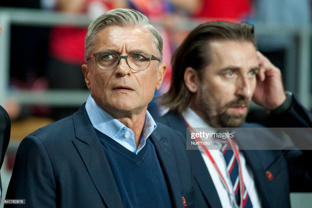 The Polish Coach Adam Nawalka during the FIFA World Cup 2018 Qualifying Round between Denmark and Poland at Telia Parken Stadium in Copenhagen, Denmark on September 1, 2017