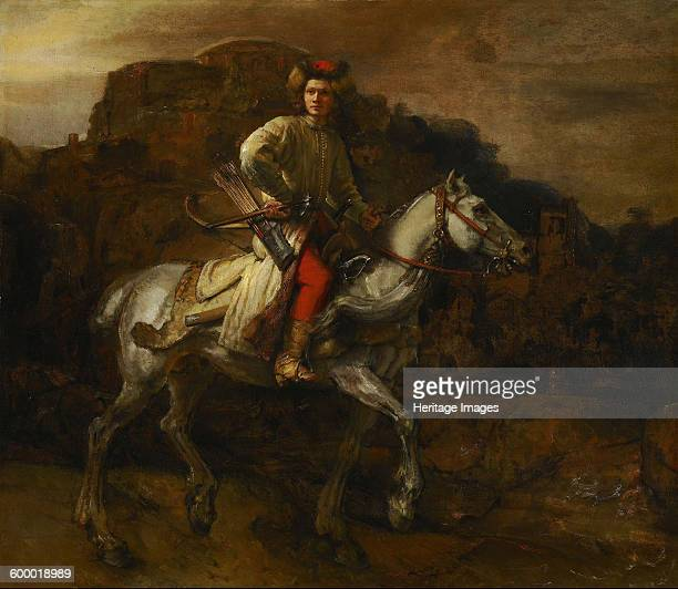 The Polish Rider c 1655 Found in the collection of Frick Collection New York Artist Rembrandt van Rhijn