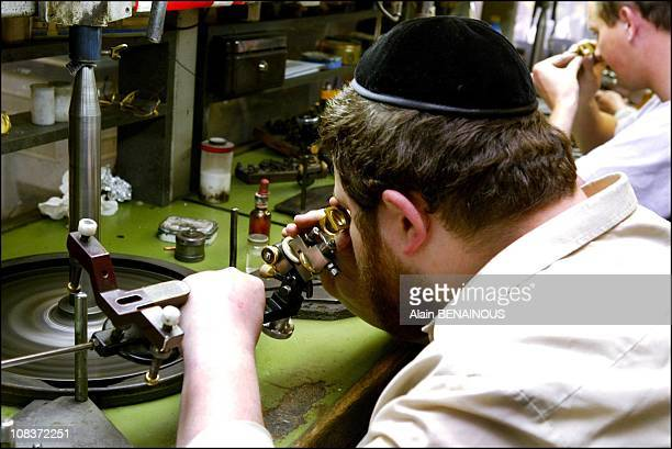 The polishing factory of Ollech and Diamond shaping in Anvers Belgium on May 01 2003