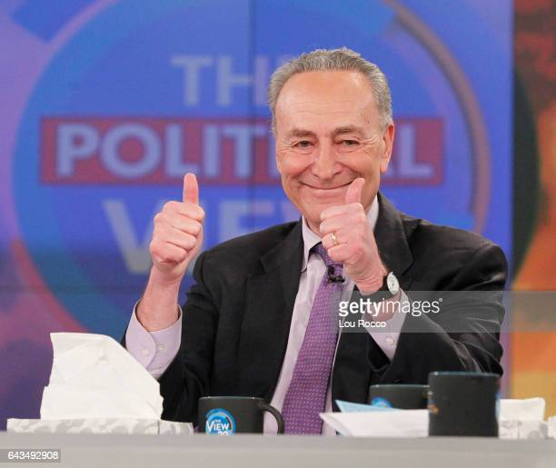THE VIEW The Political View with Senator Minority Leader Charles Schumer today Tuesday February 21 2017 on Walt Disney Television via Getty Images's...