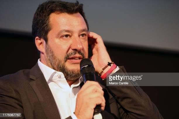 The politician Matteo Salvini, leader of Lega political movement, during the political meeting The Young Pope.