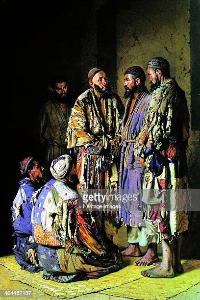 The politicians in an opium shop Tashkent' 1870 Vereshchagin Vasili Vasilyevich Found in the collection of the State Tretyakov Gallery Moscow