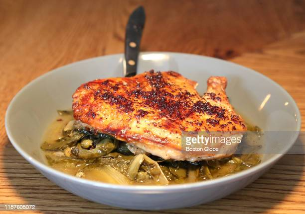 The pollo al mattone served at Fox & the Knife in South Boston is pictured on July 19, 2019.