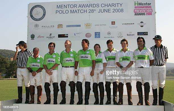 The Polo Team waits for her Majesty Queen Silvia of Sweden President of Mentor International to remit prizes at the Mentor International Prevention...