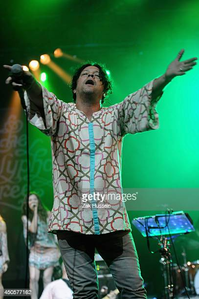 The Polyphonic Spree performs at The Isle of Wight Festival at Seaclose Park on June 13 2014 in Newport Isle of Wight